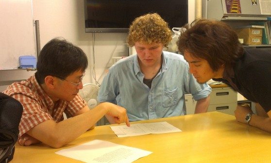 2013 NanoJapan_JJ Allred_Tonouchi Lab Discussion with JP Student Mentor