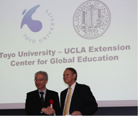 Toyo collaborates with UCLA Extension for providing various global education opportunities. The Toyo University-UCLA Extension Center for Global Education will provide extensive English programs including Business English Courses (BEC) which are designed for the business community in Tokyo